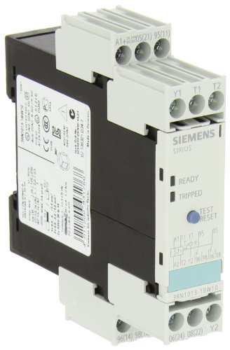 Siemens 3Rn1013-1Bw10 Thermistor Motor Protection Relay, Screw Terminal, Standard Evaluation Units, 2 Leds, 22.5Mm Width, Manual/Auto/Remote Reset, 2 Co Contacts, 24-240Vac/Vdc Control Supply Voltage