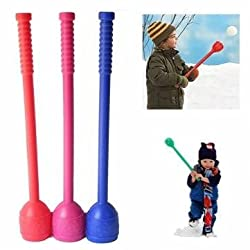 Snowball Stick Throwing Stick Snow Snowball Fight Tool Device With Whistle Plastic Only one Stick