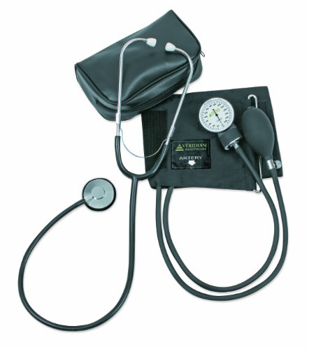 Veridian 01-5521 Two-party Home Blood Pressure Kit With Detached Nurse Stethoscope, Latex Free, Adult (Cotton Blood Pressure Cuff compare prices)