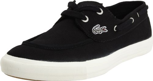 Lacoste Women's Bateau13 Lace-Up Fashion Sneaker,Black,8.5 M US