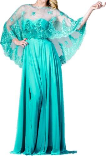 Zeilei Strapless Chiffon Floor Length Prom Formal Dress with Lace Bolero