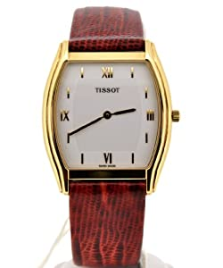 14K Gold Tissot Men's Leather Watch