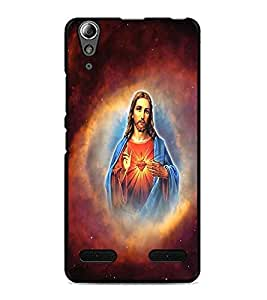 PrintDhaba Lord Jesus D-3751 Back Case Cover for LENOVO A6000 PLUS (Multi-Coloured)