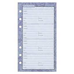 Day Runner Regency Telephone Address Pages, 30 Sheets