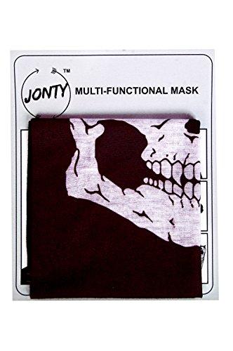 Jonty blackskull Black Face Mask (Black_Large)