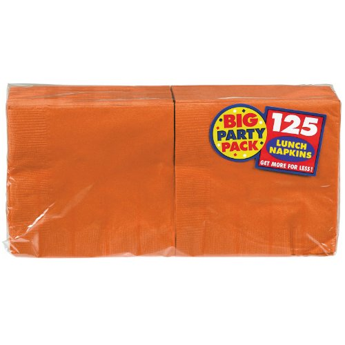 Orange Peel Big Party Pack - Lunch Napkins (125 count) [Toy]