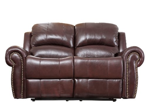 Strange Abbyson Living Mercer Reclining Italian Leather Loveseat Unemploymentrelief Wooden Chair Designs For Living Room Unemploymentrelieforg