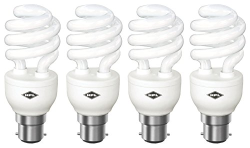 HPL Spiral B22 20W CFL Bulb (White, Pack of 4) Image
