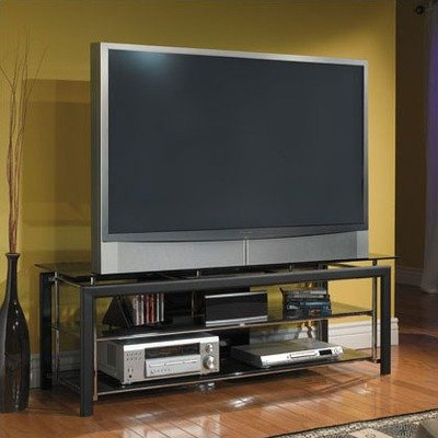 Cheap Bush Midnight Mist TV Stand in Textured Black (VS44850-03)