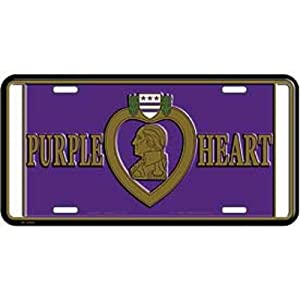 Purple Heart Medal License Plate
