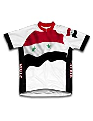 Syria Flag Short Sleeve Cycling Jersey for Women