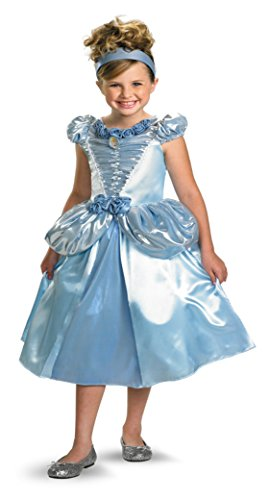 Girls Cinderella Lame Deluxe Kids Child Fancy Dress Party Halloween Costume