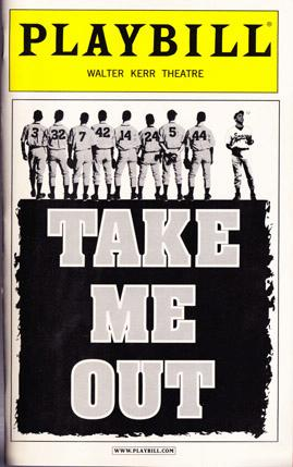 Take Me Out -- Playbill 2003 Walter Kerr Theatre, Greenberg, Richard