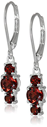 sterling-silver-garnet-three-stone-dangle-earrings