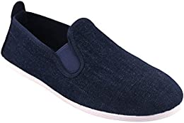 Scentra Mens Canvas Moccasins MMDS