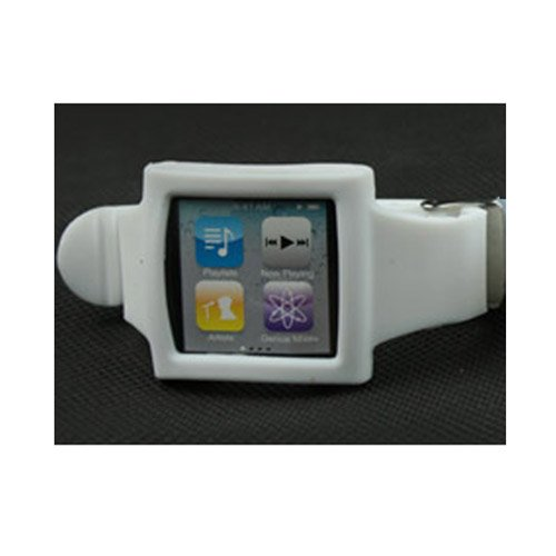Silicone Wrist Strap Wrist Band Watch Band for iPod Nano 6th Milky