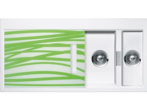 Schock Horizont D-150 A G Polaris Granitspüle Weiß Auflage Küchenspüle Einbau