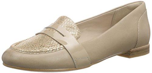 Clarks - Festival Grace, Mocassino da donna, beige (champagne combi), 39