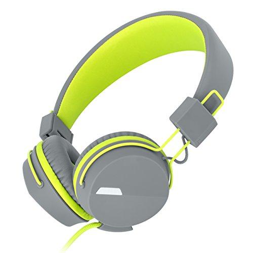I39 Kopfhörer mit In-Line Mikrofon leicht tragbarer faltbarer und einstellbarer Kinder
