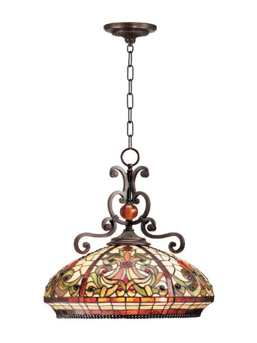 Dale Tiffany TH101034 Boehme Pendant Lamp, Antique Golden Sand