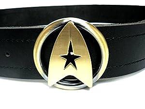 Oem Men's Star Trek Twok Leather Belt Buckle