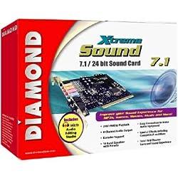 Diamond Multimedia XtremeSound 7.1/24 bit Sound Card. DIAMOND XS71 PCI SOUNDCARD 24BIT AUDIO DOLBY EX DTS 6.1/7.1 INTSND. PCI - 24 bit - Internal