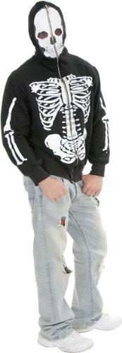 Men's Skeleton Sweatshirt Hoodie Halloween Costume