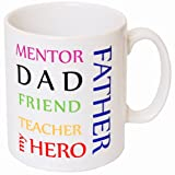 My Father Mug - MugsnKisses Range - Each Mug Includes Free Chocolate Kiss! -The perfect gift for Father's Day, Birthday, Christmas!