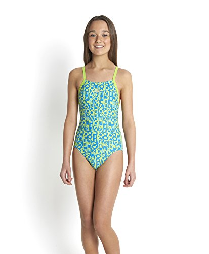 speedo-girls-ripple-back-text-allover-rippleback-swimsuit-citrus-green-neon-blue-size10-years-28