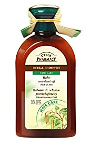 Green Pharmacy Anti-Dandruff Conditioning Balm for Hair Birch Tar and Zinc - 0% parabens, artificial colouring, SLS, SLES - 300ml