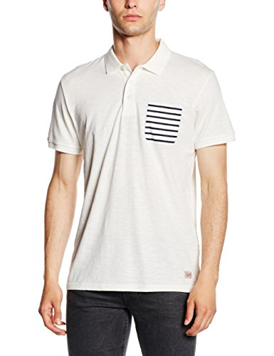 Jack & Jones Extra, Polo Uomo, White (Cloud Dancer), Medium