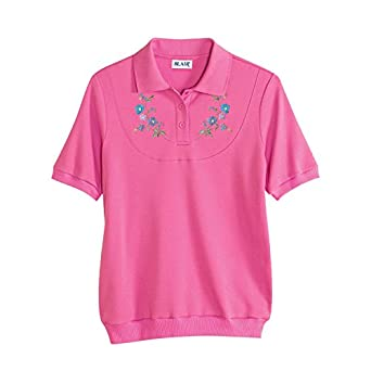 Blair Women 39 S Plus Size Embroidered Banded Bottom Polo At