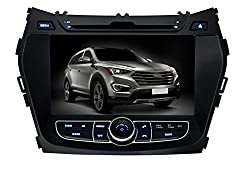 See Pumpkin 8 inch For Hyundai IX45/Santa Fe 2013 In Dash HD Touch Screen Car DVD Player SD/USB/GPS/BT/FM/AM Radio Stereo Navigation Details