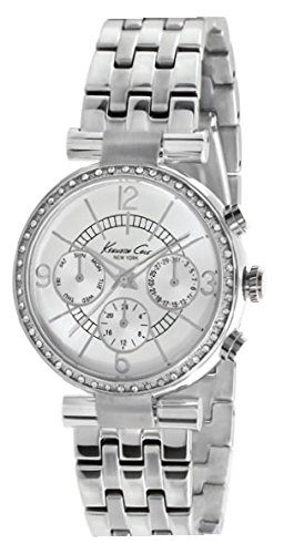 Kenneth Cole New York Women's KC4872 Dress Sport Triple Silver Ladies Chronograph Watch