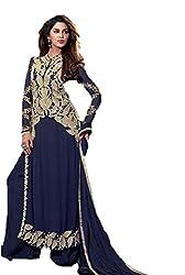 AVP Mart Women's Net Unstitched Dress Material (SM_M2311_Blue)