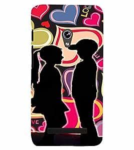 PrintVisa Romantic Love Kids 3D Hard Polycarbonate Designer Back Case Cover for Asus Zenfone 5
