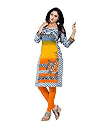 Comfortica Ethnicwear Women's Unstitched Kurti Fabric Multi-Coloured Free Size (JKMaya1001)