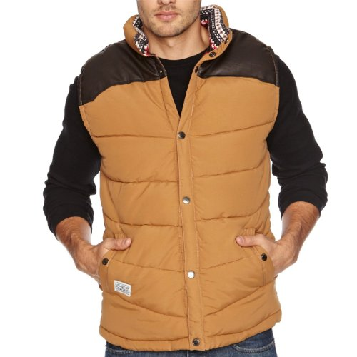 Bellfield Hunter Quilted Padded Bodywarmer Gilet Jacket Mens Size XL - Caramel