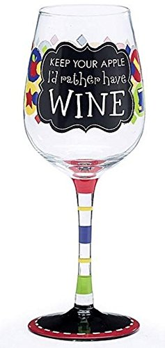 Teacher's Wine Glass with