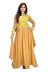 Priyanshu Creation Women's Georgette Chiku Dress Material