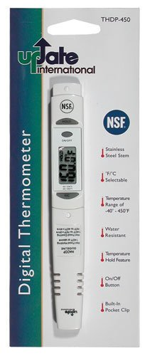 Update International THDP-450 Digital Thermometers with Sleeve and Handle, 7-1/2-Inch