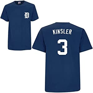 Ian Kinsler Detroit Tigers Navy Player T-Shirt by Majestic by Majestic
