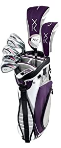 Knight Women's XV II Complete Golf Set (Right Hand, Ladies Flex, Driver, 3 Fairway Wood, 4/5 Hybrid, 6-PW, Putter, Bag) by KNIGHT