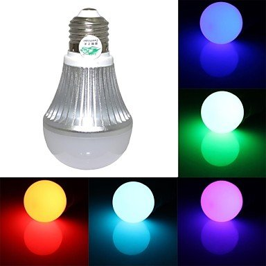 Zclzweihnde Xl-771492 E27 5W 300Lm Light Led Globe Bulb With Remote Control (Ac 85-265V)
