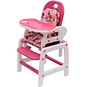 Homcom Baby Toddler Rocking Feeding Highchair Booster Seat