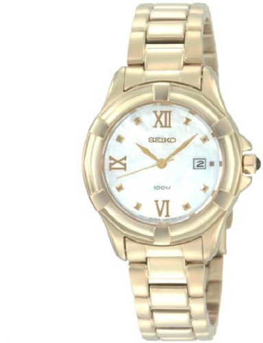 Seiko Ladies Watch SXDB84P1 with Gold PVD Bracelet