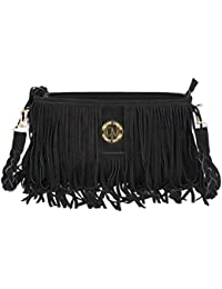 Deeanne London Women's Leather Sling Bag (Black)