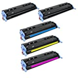 HQ Supplies 5 HP 124A 2 HP Q6000A 1 HP Q6001A 1 HP Q6002A 1 HP Q6003A Toner Cartridge Set (2 Black 1 Cyan 1 Yellow...