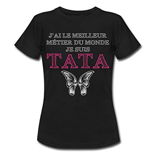 citation-meilleur-metier-je-suis-tata-t-shirt-femme-de-spreadshirtr-s-noir