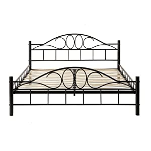 metallbett inkl lattenrost de luxe 160x200. Black Bedroom Furniture Sets. Home Design Ideas